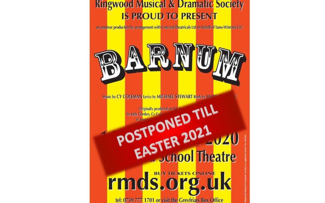 Barnum – Postponed