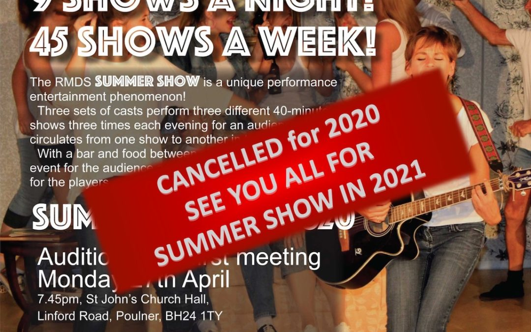 Summer Show 2020 – Cancelled