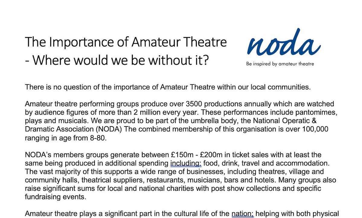 The Importance of Amateur Theatre
